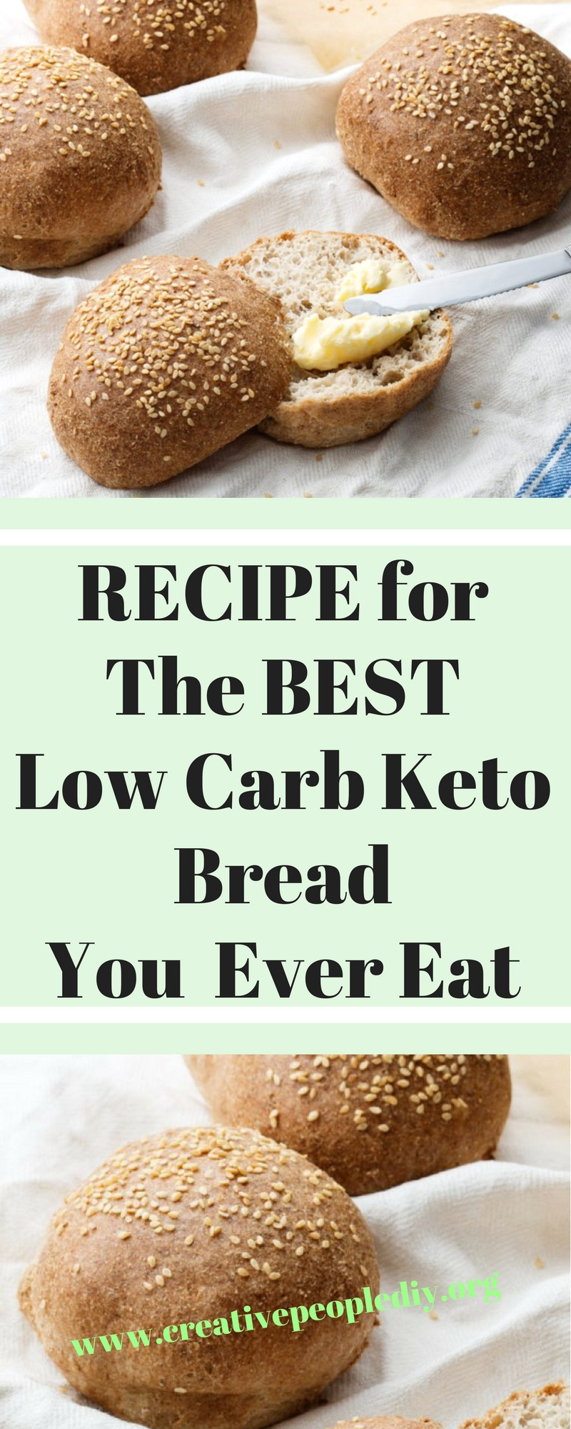 Healthy Low Carb Bread  RECIPE for The BEST Low Carb Keto Bread You Will Ever Eat