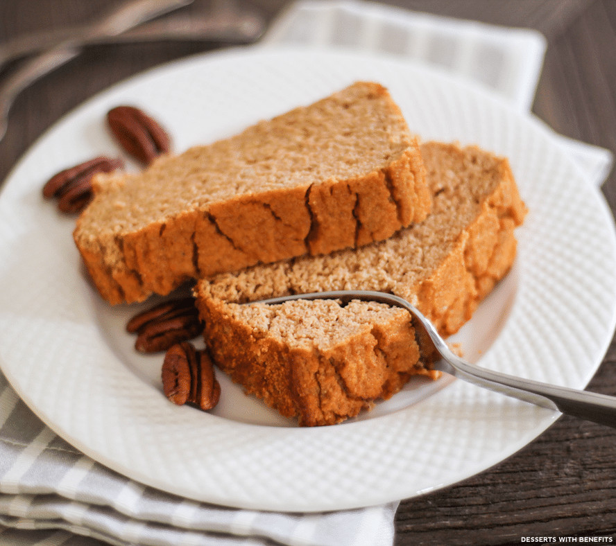 Healthy Low Carb Desserts  Desserts With Benefits Healthy Pumpkin Cake Loaf recipe