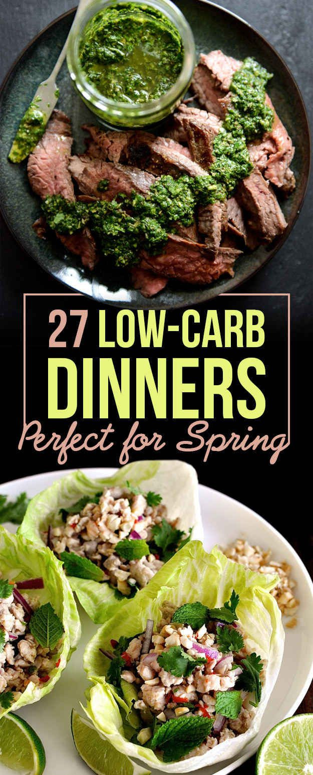 Healthy Low Carb Dinner Recipes  27 Low Carb Dinners That Are Great For Spring