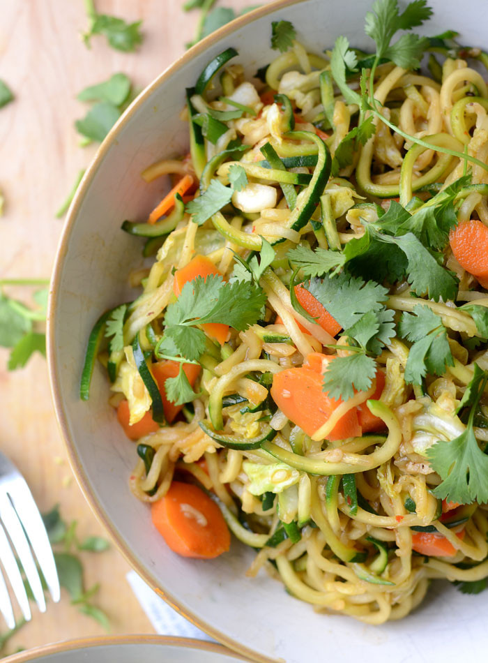Healthy Low Carb Dinners  Zucchini Noodle Low Carb Vegan Chow Mein Quick & Easy