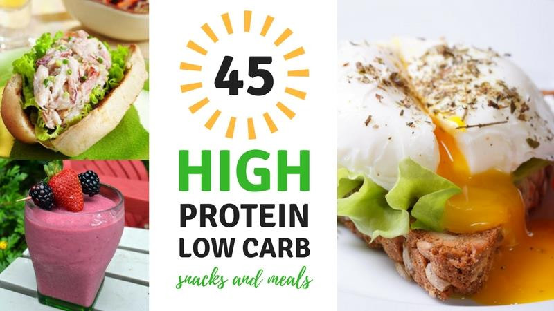 Healthy Low Carb High Protein Snacks  45 High Protein Low Carb Snacks and Meals Best Weight