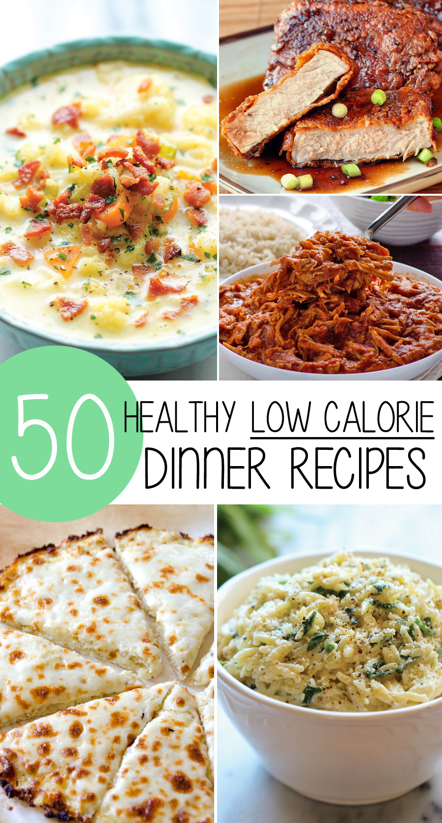 Healthy Low Cholesterol Recipes  50 Healthy Low Calorie Weight Loss Dinner Recipes