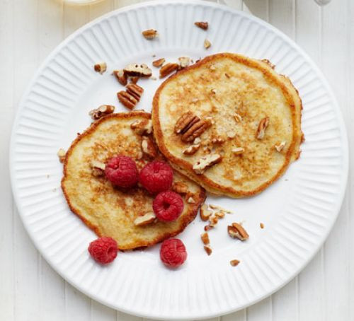 Healthy Low Fat Breakfast  Banana pancakes recipe