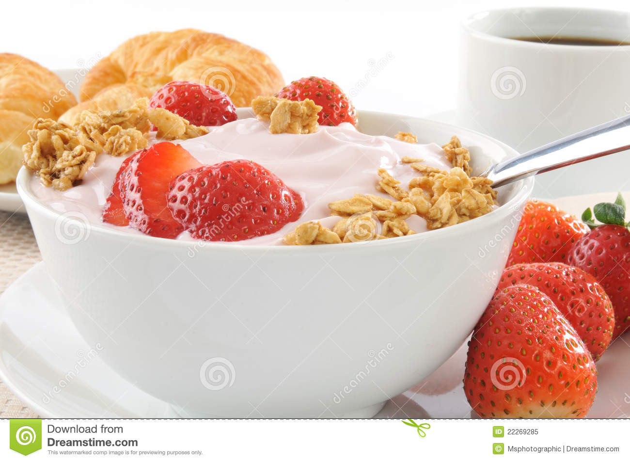 Healthy Low Fat Breakfast  Healthy Low Fat Breakfast Royalty Free Stock Image
