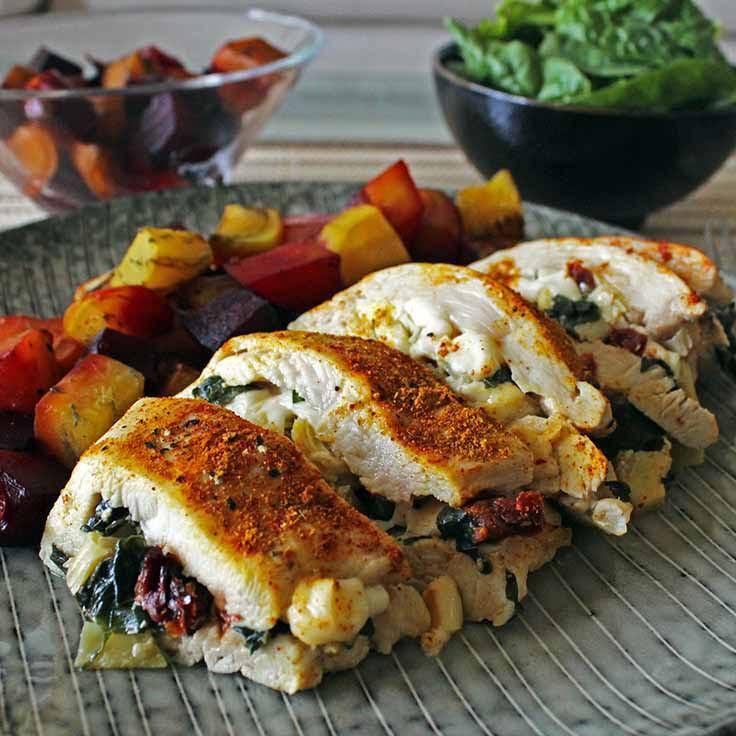 Healthy Low Fat Chicken Recipes  10 Best Low Fat Stuffed Chicken Breast Recipes