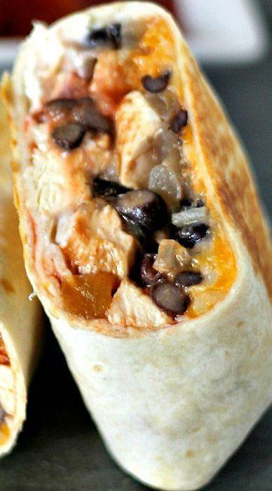 Healthy Low Fat Chicken Recipes  100 Chicken Burrito Recipes on Pinterest