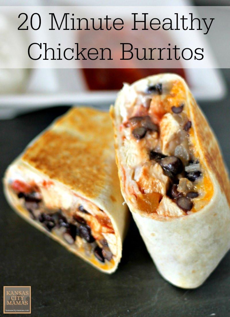 Healthy Low Fat Chicken Recipes  20 Minute Low Fat Healthy Chicken Burrito Recipe