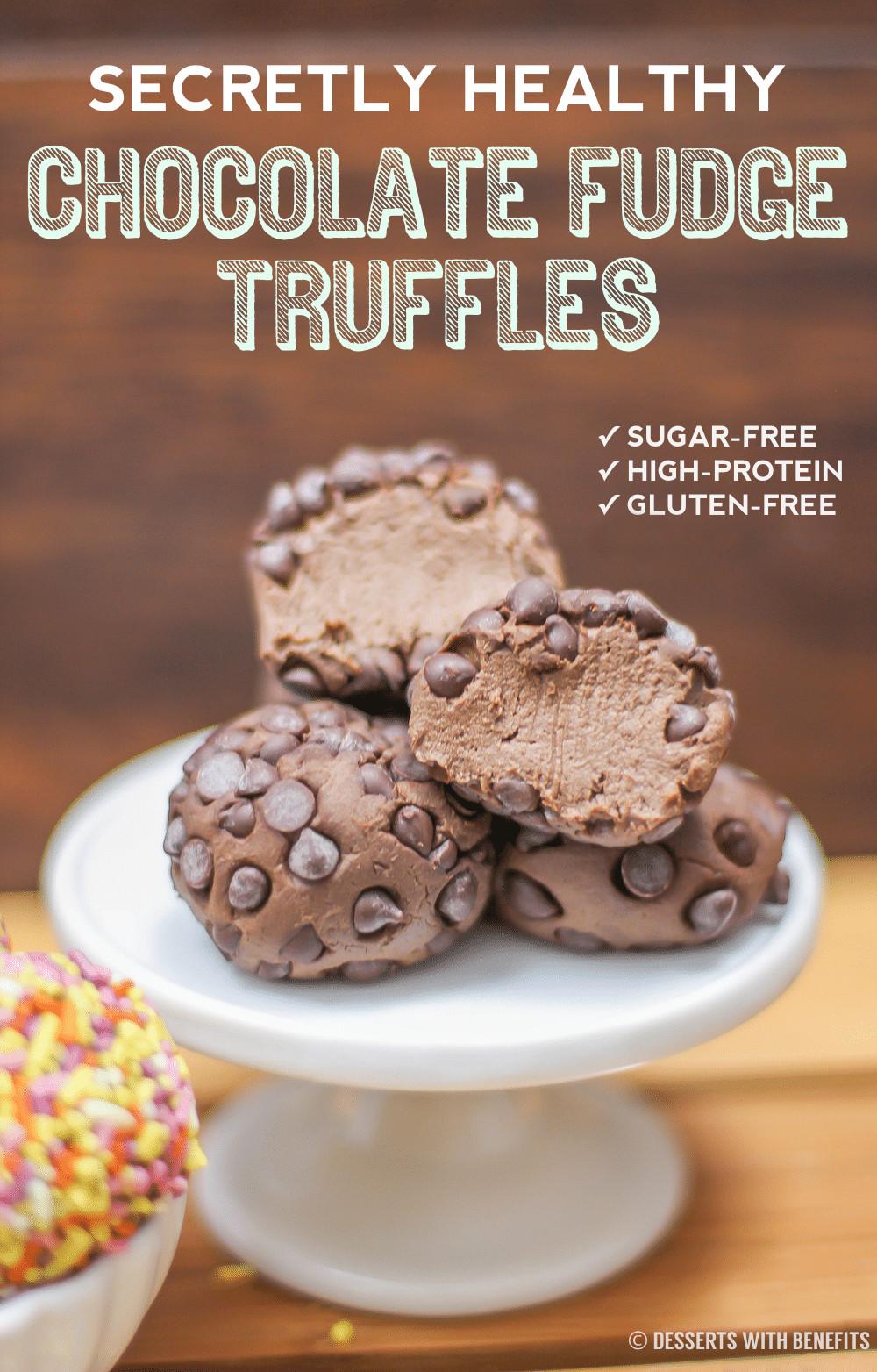 Healthy Low Fat Desserts  Healthy Chocolate Fudge Truffles Recipe