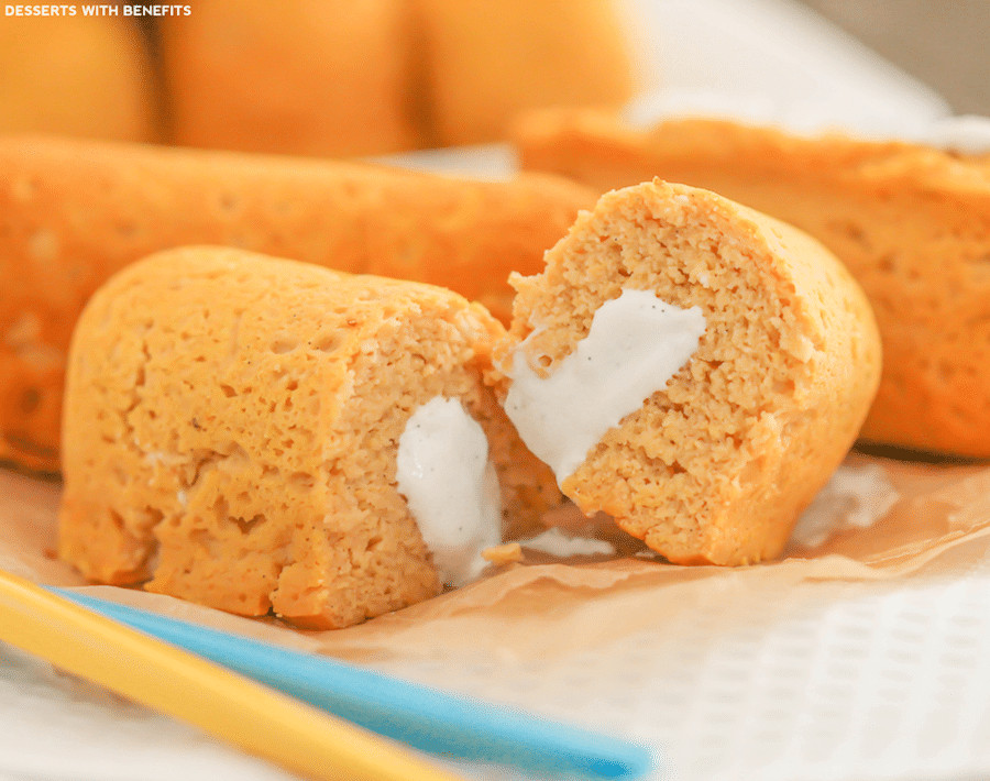 Healthy Low Fat Desserts  Healthy Homemade Twinkies sugar free low fat gluten free