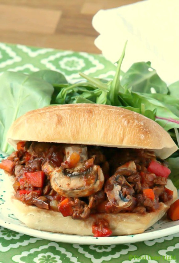 Healthy Low Fat Dinner Recipes  Healthy Low fat Ve arian Sloppy Joes Food Done Light