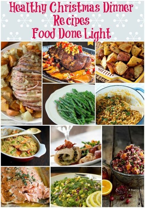 Healthy Low Fat Dinner Recipes  Healthy Christmas Dinner Recipes Low Calorie Low Fat Pin