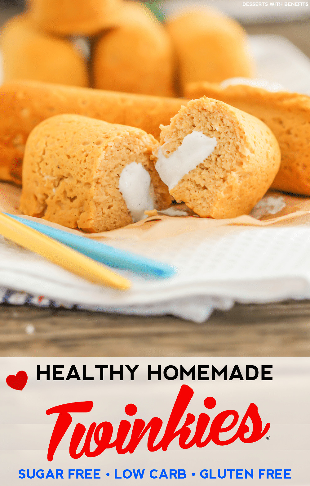 Healthy Low Sugar Desserts  Healthy Homemade Twinkies Recipe