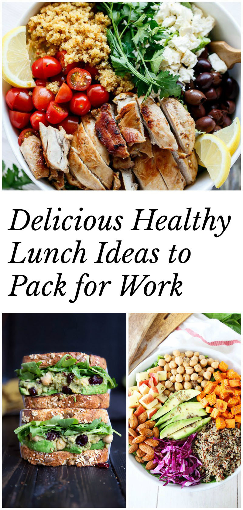 Healthy Lunch And Dinner Ideas  Healthy Lunch Ideas to Pack for Work 40 recipes