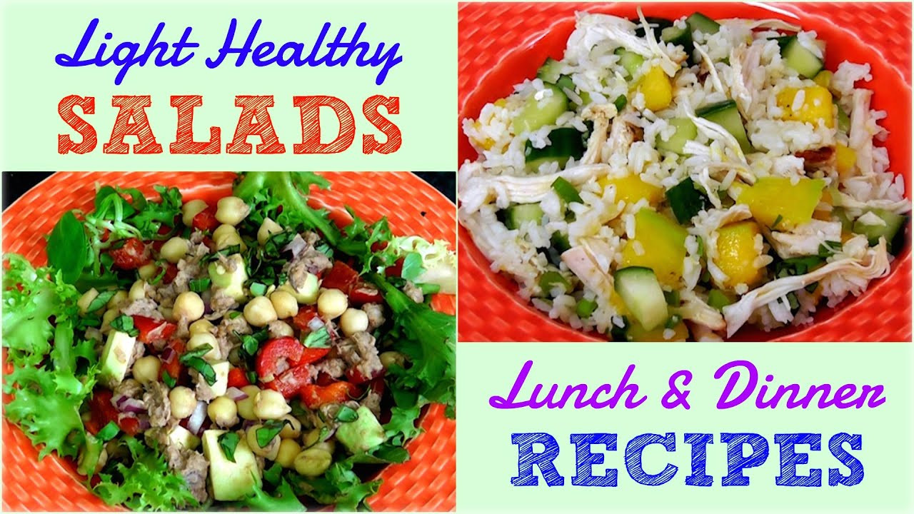 Healthy Lunch Recipes For Weight Loss  Light Healthy Salads for Lunch & Dinner Weight Loss Re