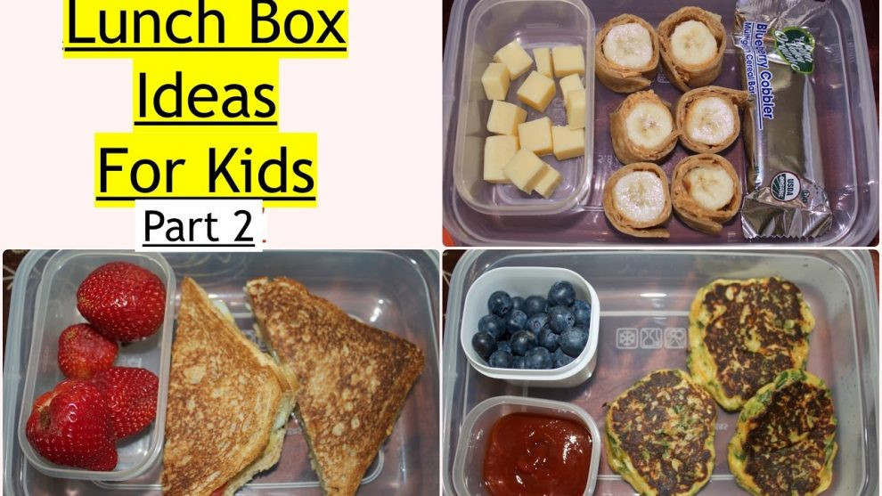 Healthy Lunch Recipes Indian  Kids Lunch Box Ideas