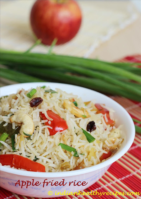 Healthy Lunch Recipes Indian  Apple Fried Rice Recipe – Easy Indian Kids Lunch Box