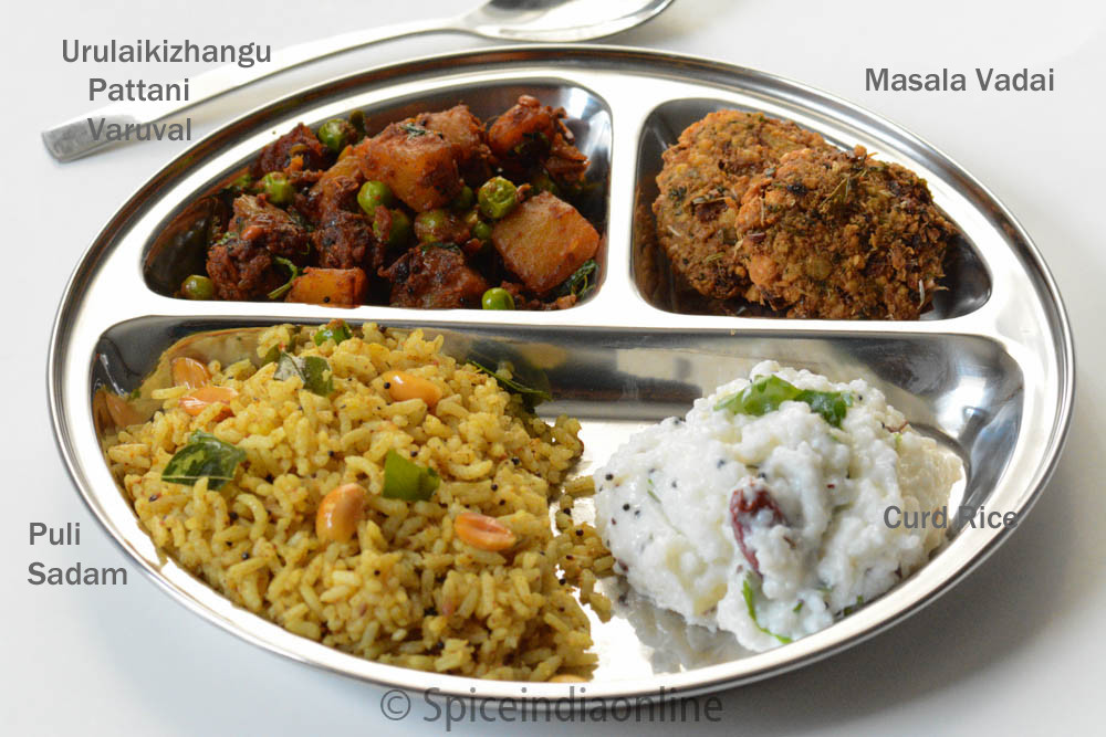 Healthy Lunch Recipes Indian  Lunch Dinner Menu 6 – South Indian Ve arian Lunch Menu