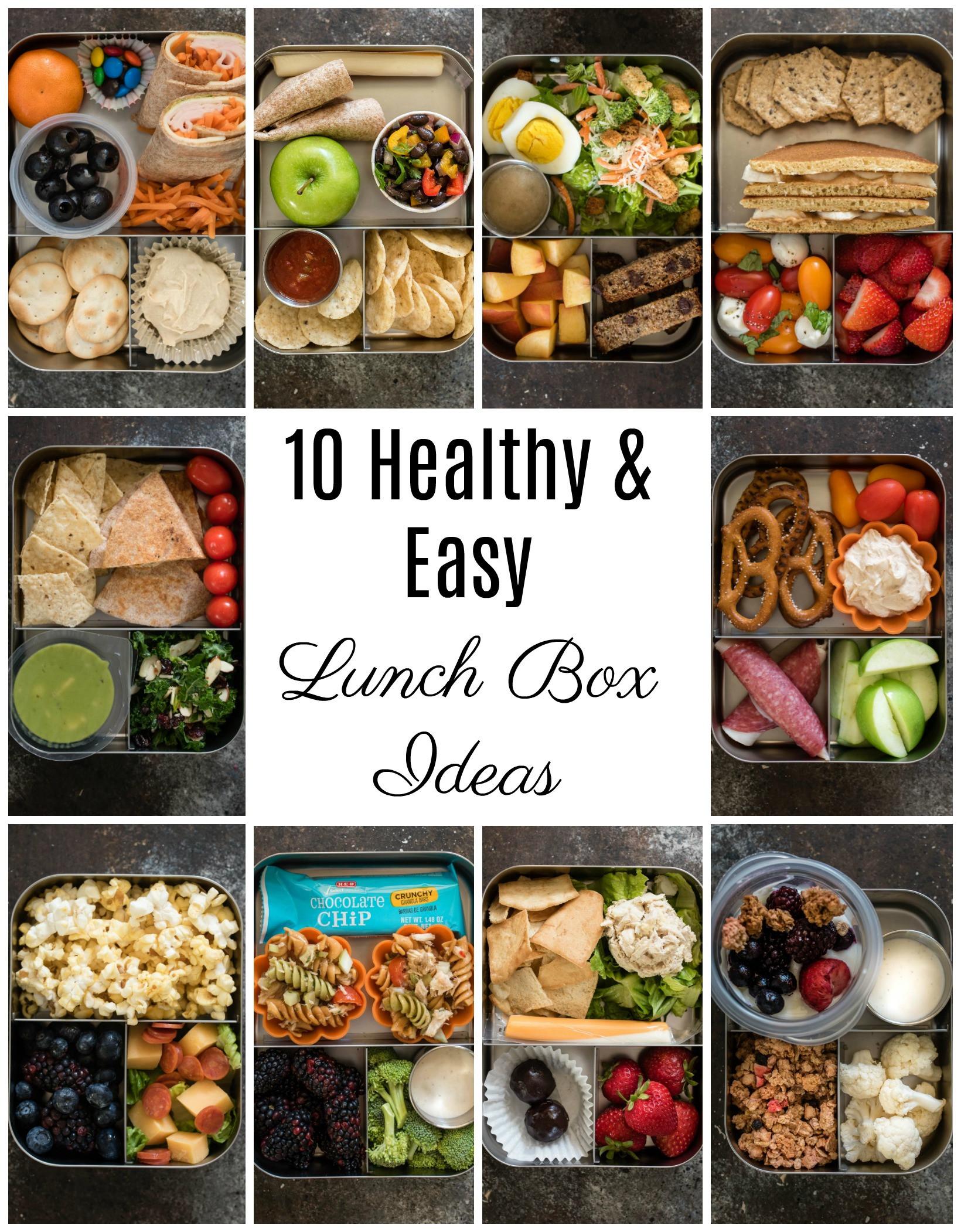 Healthy Lunch Snacks  10 Healthy Lunch Box Ideas