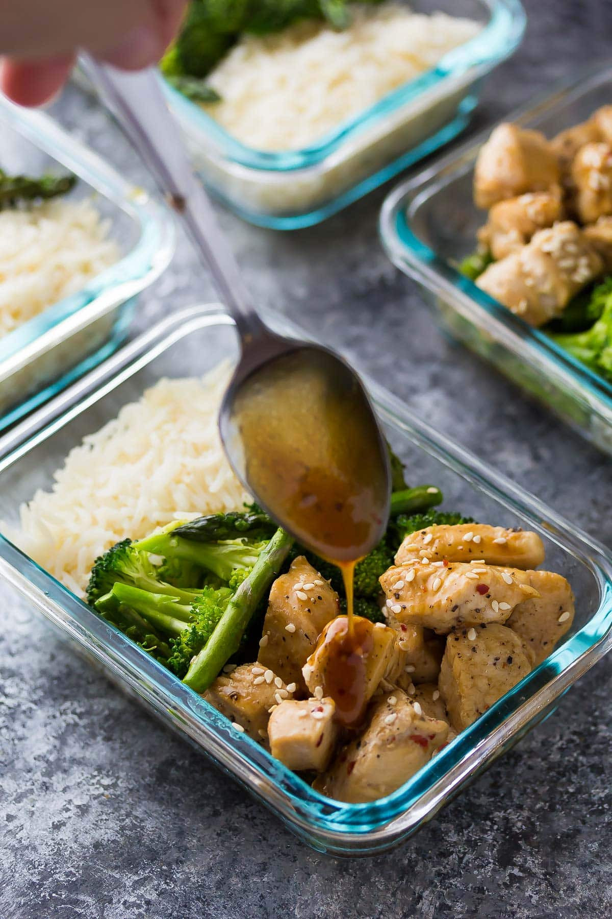 Healthy Lunches And Dinners  Honey Sesame Chicken Lunch Bowls