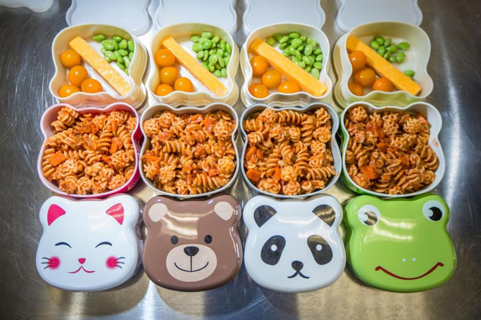 Healthy Lunches For Preschoolers  School lunch deliveries in animal themed bento boxes The