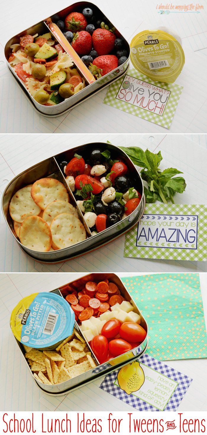 Healthy Lunches For Teens  i should be mopping the floor School Lunch Ideas for