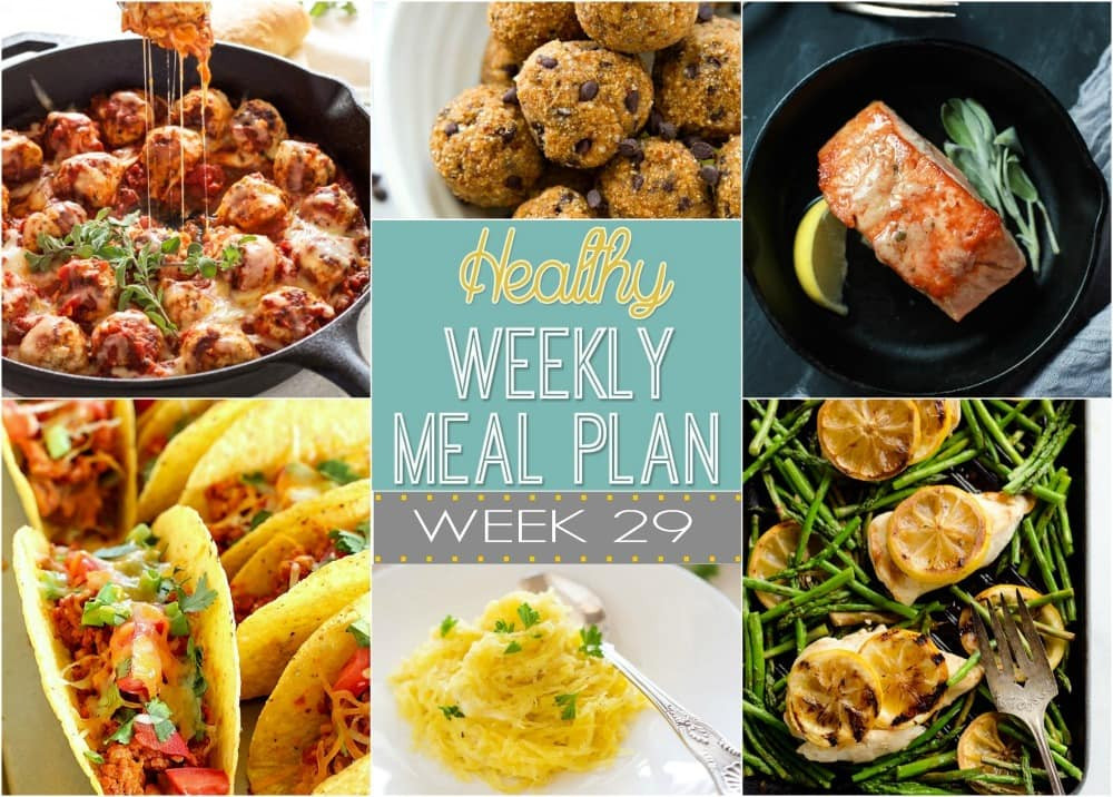 Healthy Lunches For The Week  Healthy Weekly Meal Plan 29 Yummy Healthy Easy