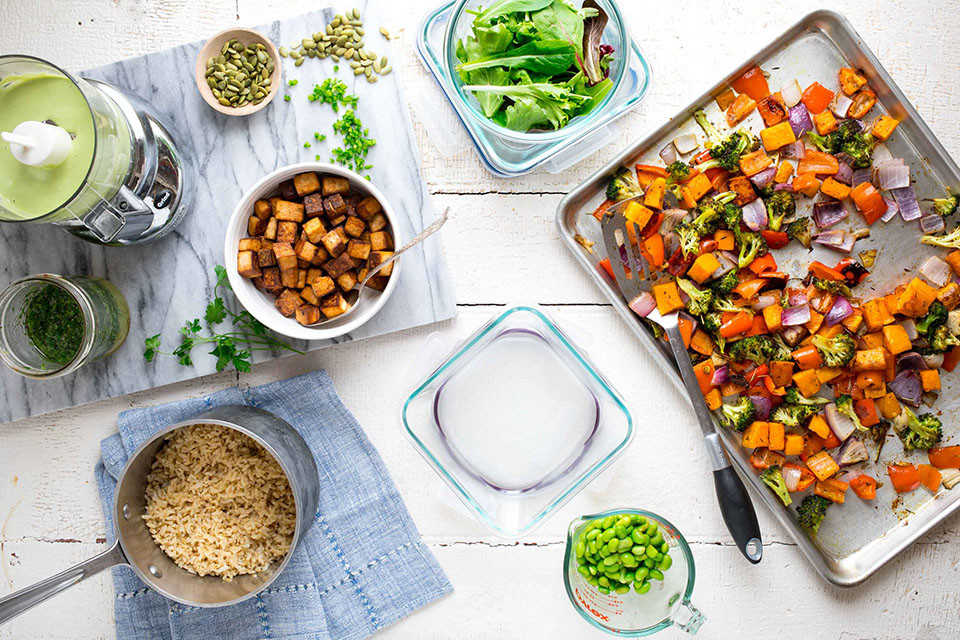 Healthy Lunches For The Week  How to Meal Prep for a Week of Vegan Lunches EatingWell