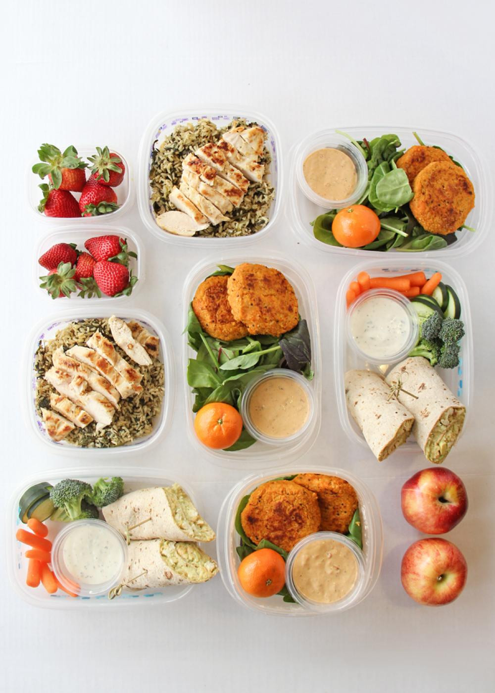 Healthy Lunches For The Week  Recipes to Prepare Seven Healthy Lunches For The Week