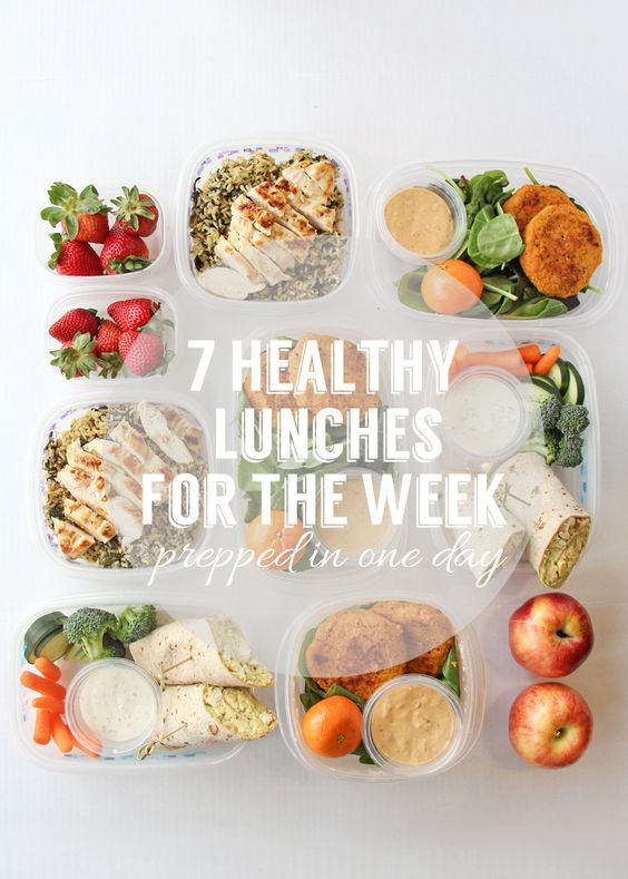 Healthy Lunches For The Week  Who doesn t love meal prepping Prepare 7 healthy lunches