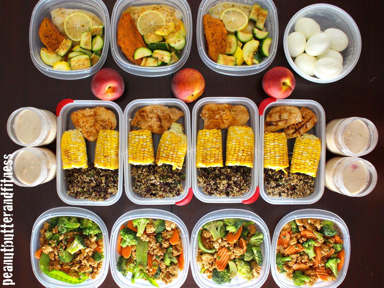 Healthy Lunches For The Week  Meal Prep Week of May 18th Peanut Butter and Fitness