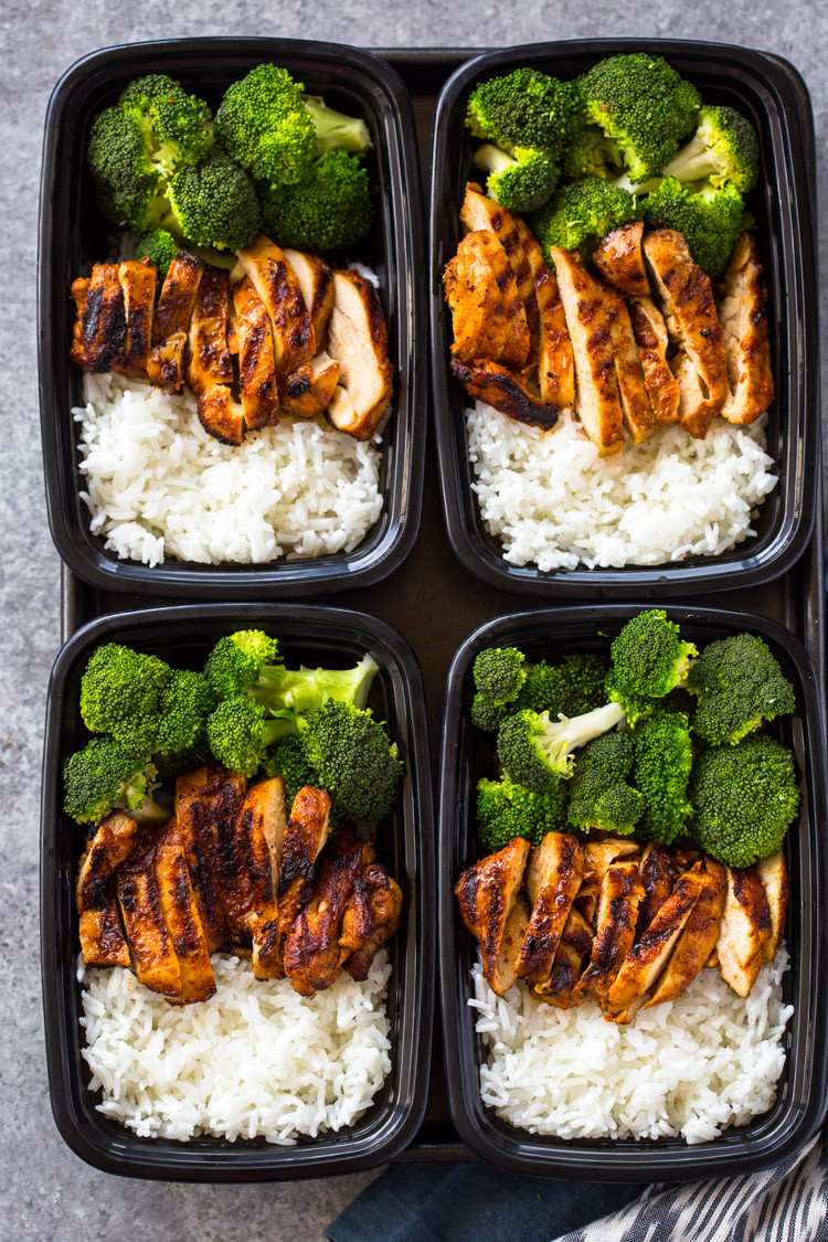 Healthy Lunches For The Week  20 Minute Meal Prep Chicken Rice and Broccoli