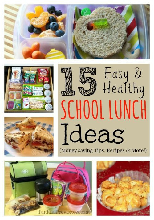 Healthy Lunches To Bring To School  School Lunch Ideas Healthy Recipes and Money Saving Tips