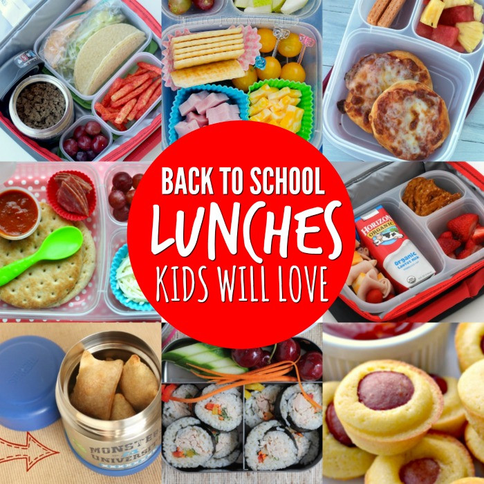 Healthy Lunches To Take To School  Back to School Lunch Ideas for Kids 20 Easy Ideass