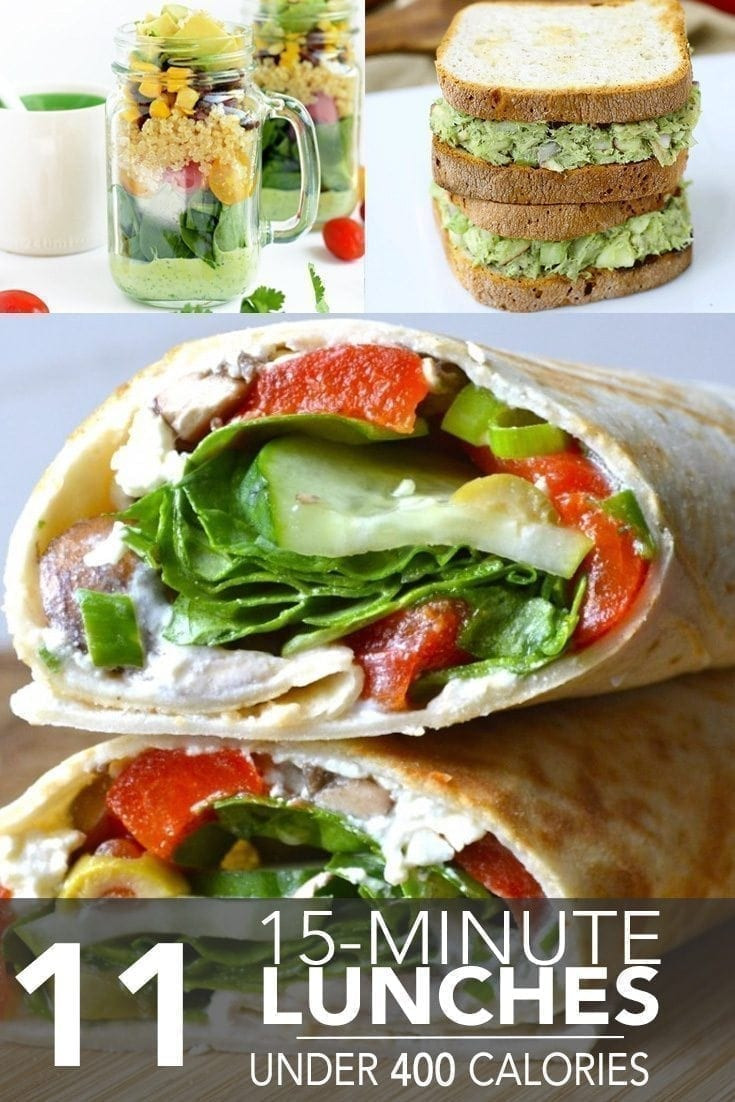 Healthy Lunches Under 400 Calories the top 20 Ideas About 11 Fifteen Minute Lunches Under 400 Calories Hello