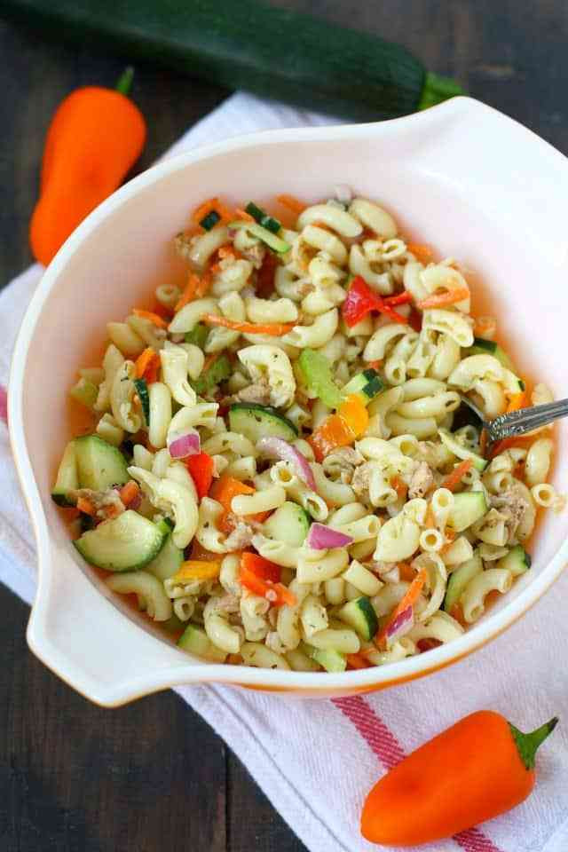 Healthy Macaroni Salad Without Mayo  simple pasta salad recipe with mayo
