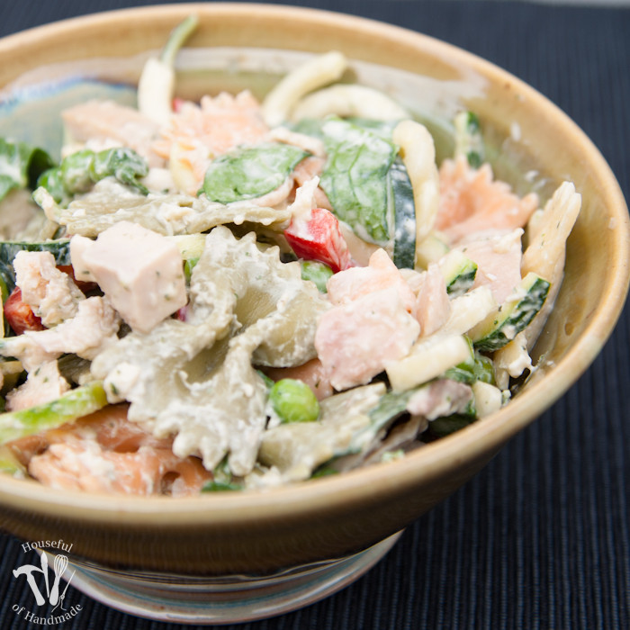 Healthy Macaroni Salad Without Mayo  Healthy Creamy Italian Pasta Salad a Houseful of Handmade