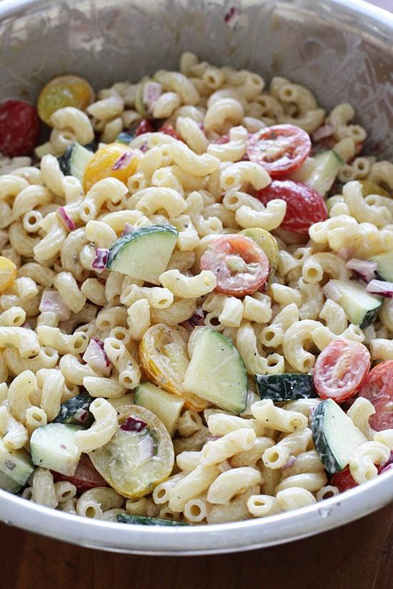 Healthy Macaroni Salad Without Mayo  kid friendly pasta salad without mayo