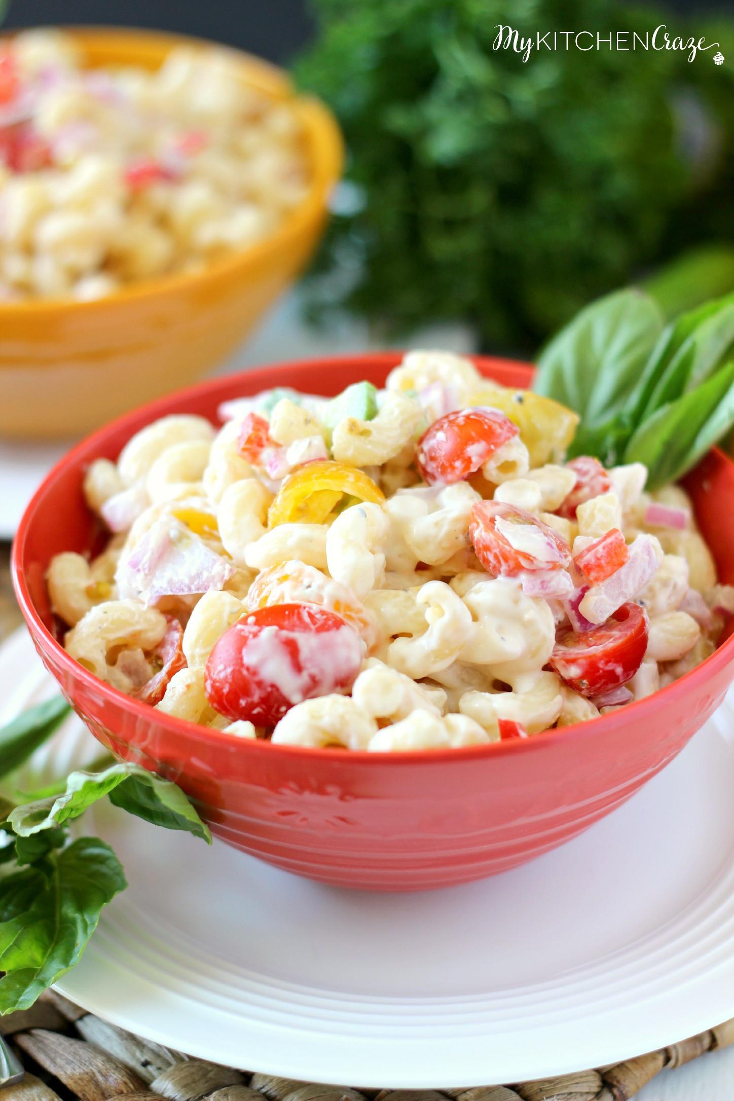 Healthy Macaroni Salad Without Mayo  Pasta Salad Lite & Healthy My Kitchen Craze