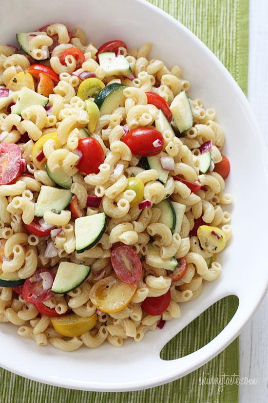 Healthy Macaroni Salad Without Mayo  gardenia glam July 2012