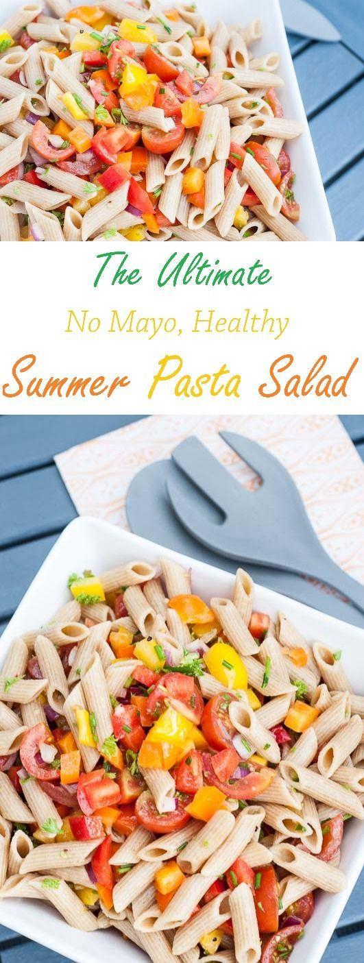 Healthy Macaroni Salad Without Mayo  Summer Pasta Salad Recipe