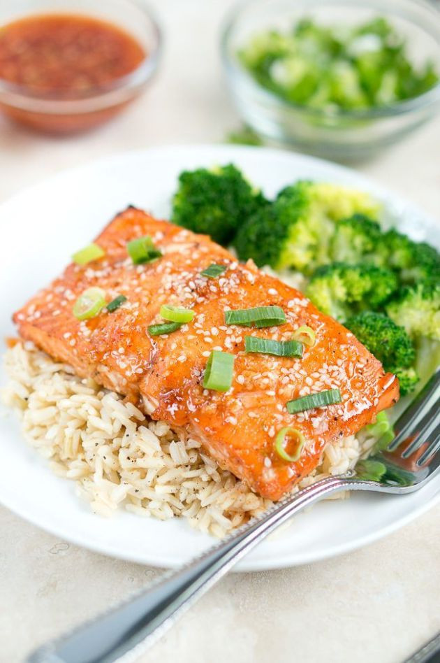 Healthy Main Dishes  Honey Sriracha Salmon Delicious Meets Healthy