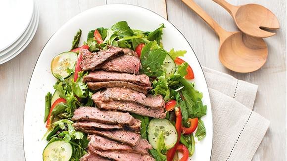 Healthy Main Dishes  Asian Steak Salad