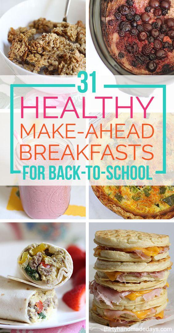 Healthy Make Ahead Breakfast  31 Healthy Make Ahead Breakfasts For Back to School