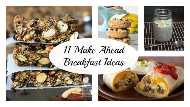 Healthy Make Ahead Breakfast  11 Healthy Make Ahead Breakfast Ideas The Write Balance