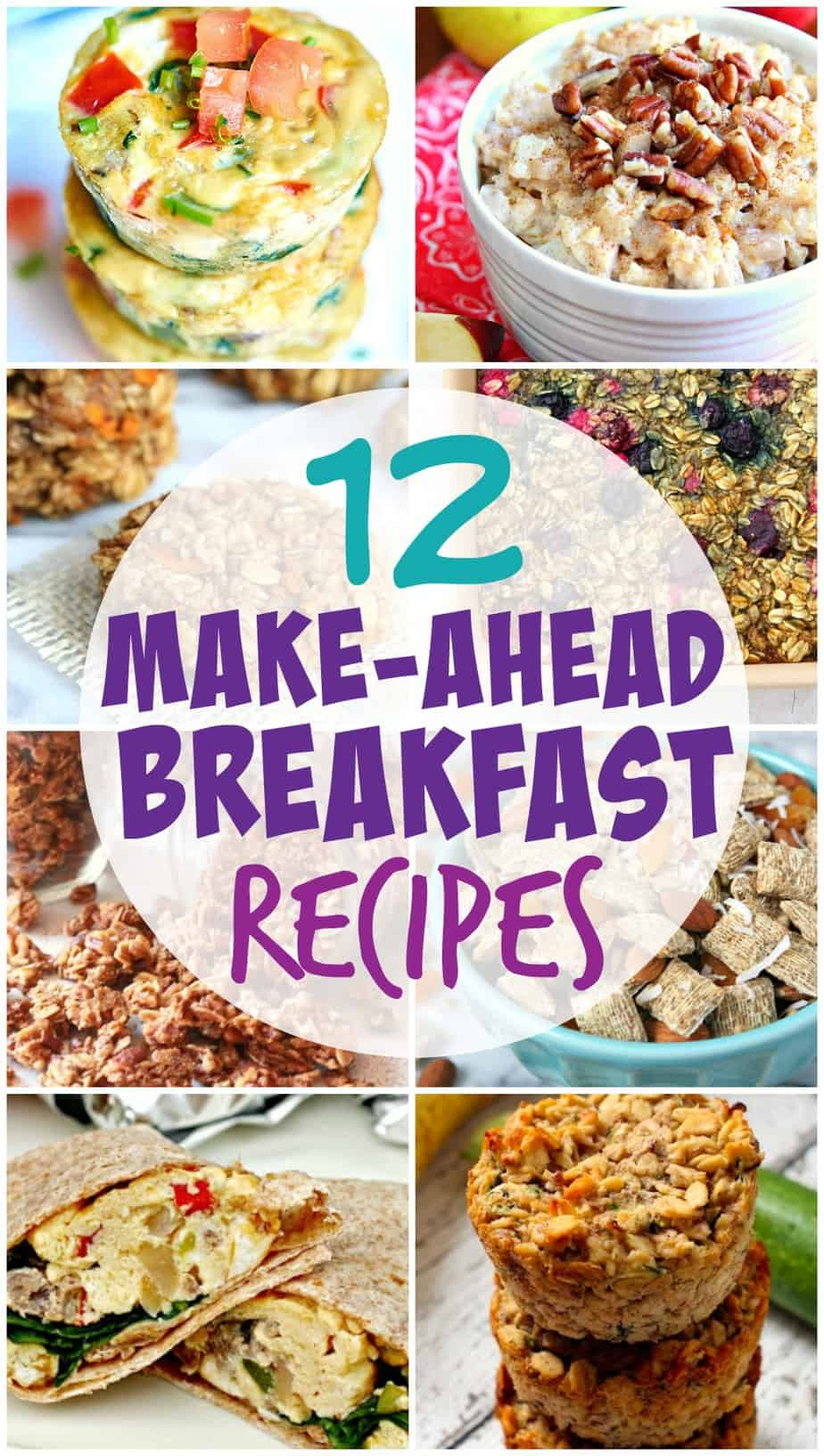 Healthy Make Ahead Breakfast  Easy and Healthy Make Ahead Breakfast Recipes for the