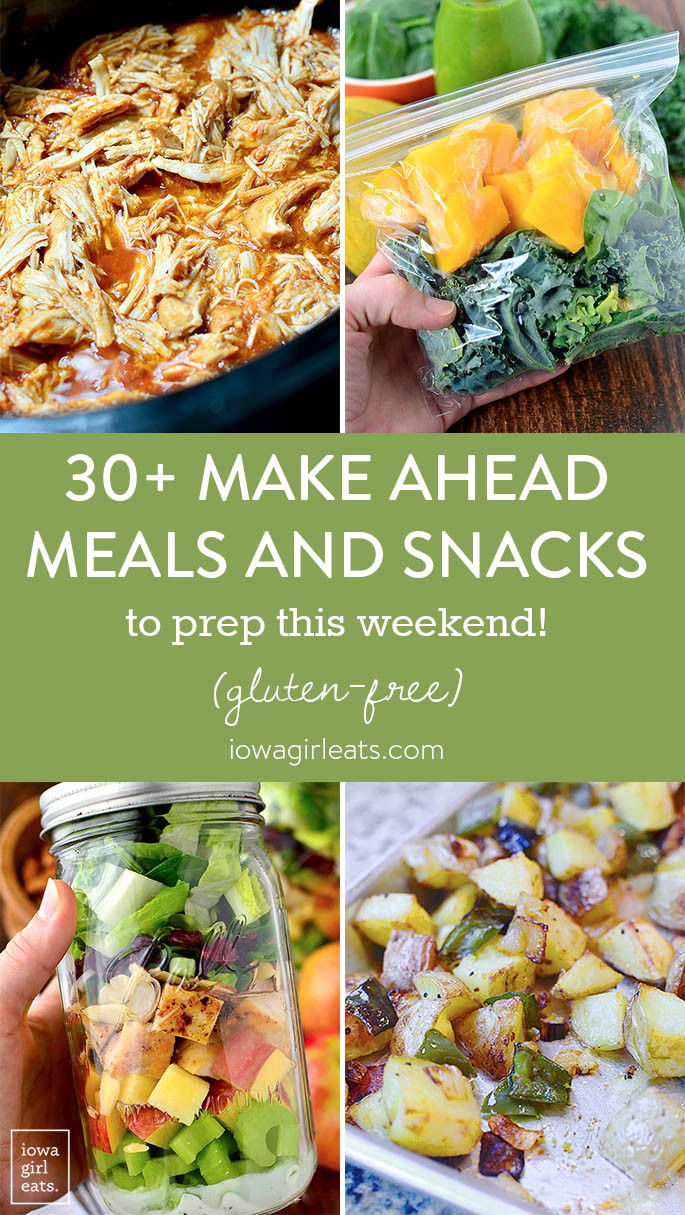 Healthy Make Ahead Lunches For Week  30 Make Ahead Meals and Snacks to Prep This Weekend