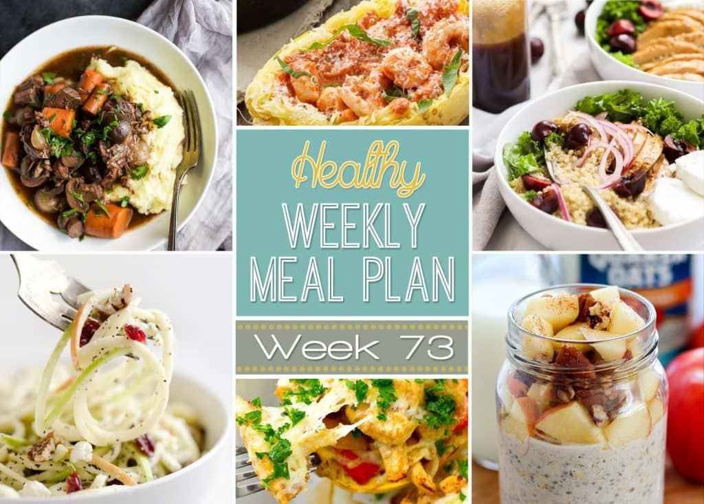 Healthy Make Ahead Lunches For Week  Healthy Weekly Meal Plan 73 Yummy Healthy Easy