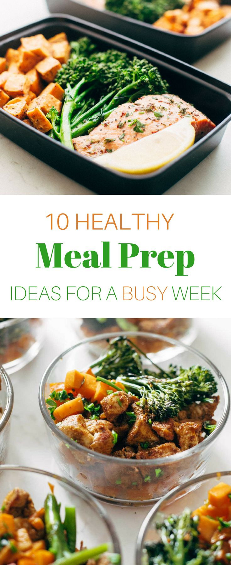 Healthy Make Ahead Lunches For Week  The easiest way to a healthy week Plan ahead These