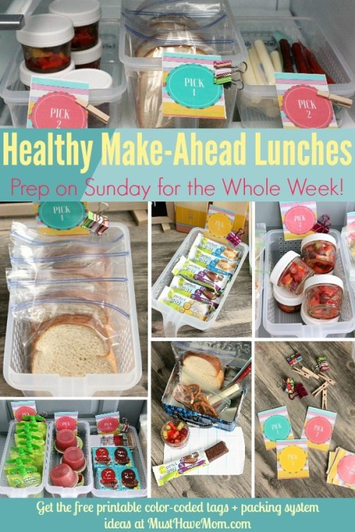 Healthy Make Ahead Lunches for Week Best 20 Back to School Tips and Ideas Plus Merry Monday Link Up