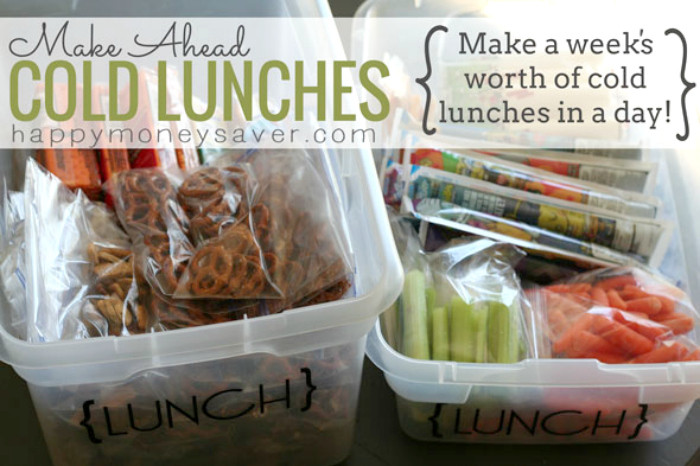 Healthy Make Ahead Lunches For Week  Make Ahead Cold Lunches A Week s Worth of Lunches in a day